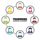 Affärsteamwork och ledarskap Arkivfoton