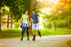Affectionate couple having leisure recreation Stock Photo