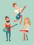 Affiche de partie de musique, Image stock