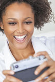 African American Girl Woman Taking Selfie Picture Stock Photo