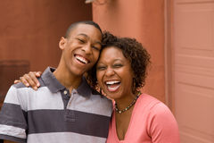 African-American single-parent family Royalty Free Stock Image
