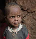 African child in slum Royalty Free Stock Photo