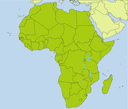 African countries Royalty Free Stock Photos