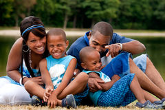 African family having fun Stock Images