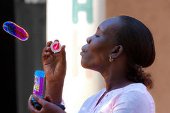 african girl,Bubbly woman Stock Photo