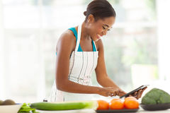 African woman recipe Royalty Free Stock Photo