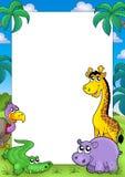 Afrikaans frame met dieren 2 Royalty-vrije Stock Afbeeldingen