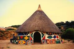 Afrikaanse hut Royalty-vrije Stock Foto
