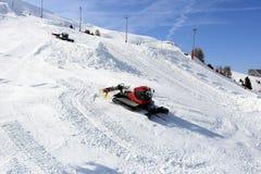 Aima 2000, Winter landscape in the ski resort of La Plagne, France Stock Photography