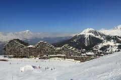 Aima 2000, Winter landscape in the ski resort of La Plagne, France Royalty Free Stock Photography