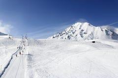 Aime 200, winter landscape in the ski resort of La Plagne, France Stock Photography