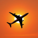 Air travel airplane Royalty Free Stock Images
