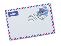 Airmail envelope Royalty Free Stock Images