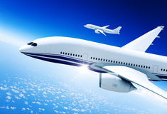 Airplanes Mid in the Air Royalty Free Stock Image
