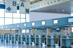 Airport check-in desks Royalty Free Stock Photo