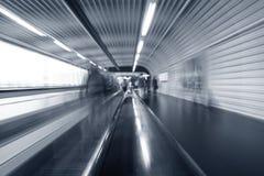 Airport moving escalator Royalty Free Stock Photos