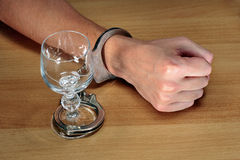 Alcohol addiction Royalty Free Stock Image