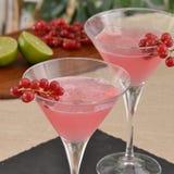 Alcoholic pink cocktail. Stock Photos