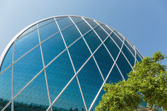 Aldar headquarters building is the first circular building of it Royalty Free Stock Image