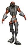 Alien creature in steel armor Royalty Free Stock Photos