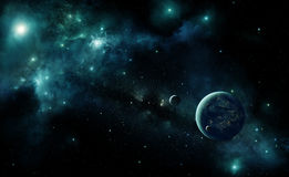 Alien planet in space Royalty Free Stock Photo