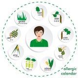 Allergy calendar Royalty Free Stock Photography