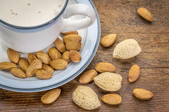 Almond milk Stock Photos