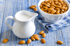 Almond milk Royalty Free Stock Photos