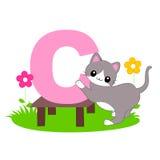 Alphabet letter - C  [Animal] Stock Image