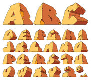 Alphabet made of stone Royalty Free Stock Images