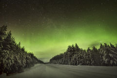The amazing Northern Lights Aurora Borealis Royalty Free Stock Photography