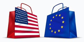 America and the European Union trade Royalty Free Stock Images