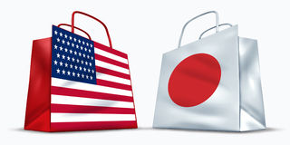 America and Japan trade Royalty Free Stock Photography