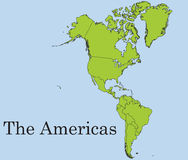 The American continent Royalty Free Stock Image