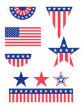 American Flag Decorations Stock Images