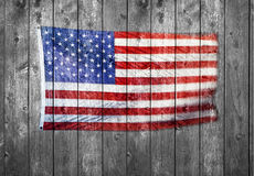 American Flag Wood Background Royalty Free Stock Image