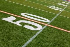 American Football Field - 50 yard line Royalty Free Stock Photography