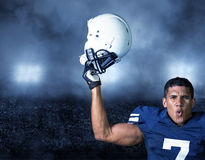 American Football Player celebrating a win Stock Image