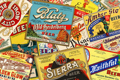 American Vintage Beer Labels Royalty Free Stock Photography