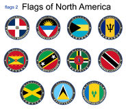 Amerika flags nord 2 flaggor Royaltyfria Foton