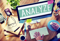 Analyze Analysis Data Information Planning Statistics Concept Royalty Free Stock Photography