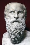 Ancient bust statue of Socrates Stock Photo