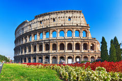 Ancient Colosseum in Rome, Italy Stock Photography