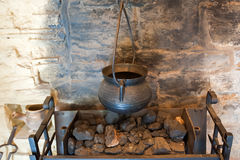 Ancient fireplace details Stock Photography