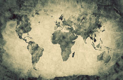 Ancient, old world map. Pencil sketch, grunge, vintage Royalty Free Stock Image