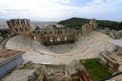 Ancient theater of Athens Royalty Free Stock Image