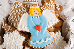 Angel cookie Royalty Free Stock Images