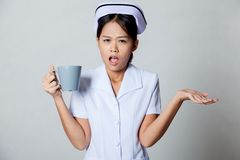 Angry young Asian nurse Stock Image