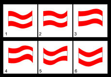 Animação da bandeira austríaca Imagens de Stock