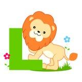 Animal alphabet L Royalty Free Stock Photo